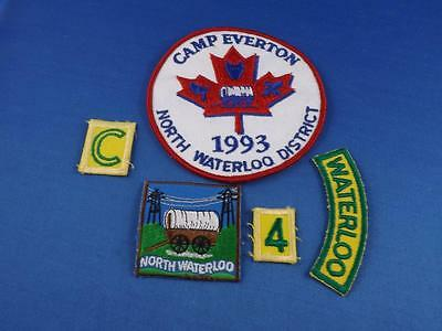 Boy Scouts Patchs Badges Lot Of 5 North Waterloo District Shoulder Patch Camp