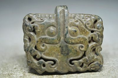 Collectible Chinese old jade hand carved beast statues cd7