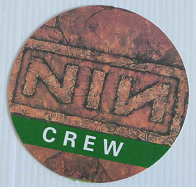 NINE INCH NAILS - Circular Card CREW Backstage Tour Pass - Unknown Tour