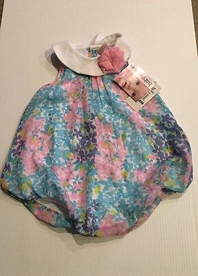 Infant baby girls' flower/bubble romper, SZ 18 months, Baby Essentials