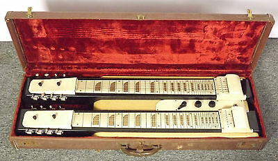 RARE 1950s National/ Valco? Double Steel Guitar for Service