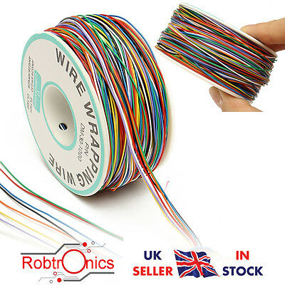 DANIU 250M 8-Wire Colored Insulated P/N B-30-1000 30AWG Wire Wrapping Cable Wrap