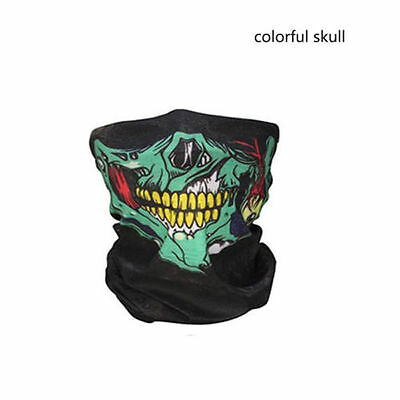Skull Bandana Mask Tube Scarf Skeleton Motorcycle Headband Ski Face Neck Jaw USA