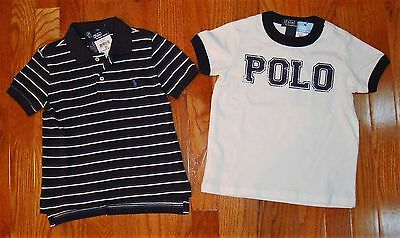 Nwt Lot Of 2 Polo Ralph Lauren Toddler Boys Shirts Size 2/2T