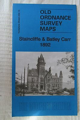 Old Ordnance Survey Map Staincliffe & Batley Carr 1892