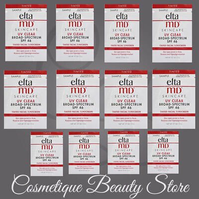 12X Elta MD UV Broad Spectrum SPF 46 Tinted SAMPLES!l 2g/each, Fresh