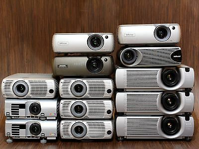 Lot Of 13 Infocus Lp250 Lp640 Hitachi Cp-X430 Lcd Projector - Just Need Lamps