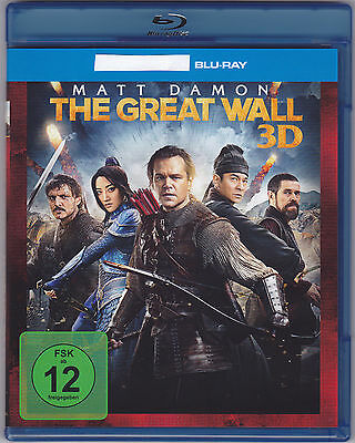 THE GREAT WALL (Matt Damon) Monster 1 BLU RAY !