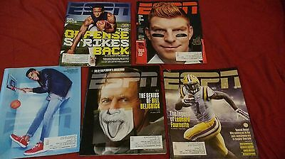 ESPN the Magazine Lot of 6 Issues from 2015 and 2016