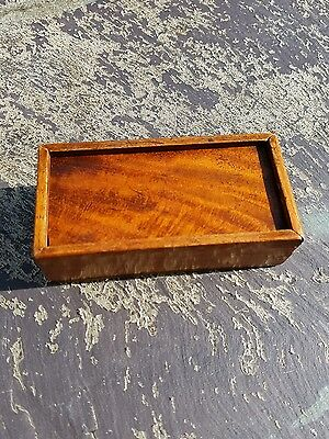 Antique golden Oak box treen Victorian