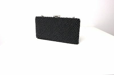 Faye London Women's Black Embellished Party Cocktail Wedding Purse Bag