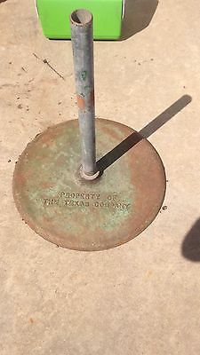 Texaco Porcelain Sign Base Texas Company Curb Sign
