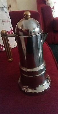 Rare Vintage INOX Coffee Pot 18/10 Made in Italy Older style for stove top