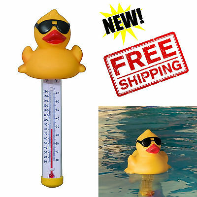Floating Pool Thermometer Derby Duck Spa Hot Tub Bath Jacuzzi °F & °C Measuring