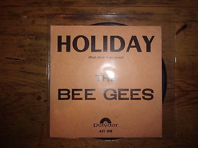 "Rare Vinyle 45T (Juke Box) BEE GEES ""Holiday"" - Pressage France - BIEM"