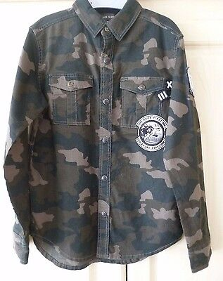 River Island   Boys Camouflage L/s  Shirt Age 7