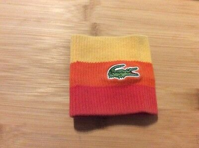 boys lacoste orange striped sweat band