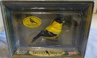 Takara 2002 Breezy Singers American Goldfinch Motion Activated & Realistic Sound
