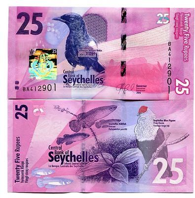 Seychelles 25 Rupees 2016 P-New Uncirculated