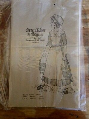 NOS Old STock Vintage Country Womans costume Sewing Pattern Historical Event