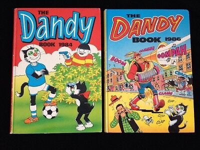 Vintage Children's Annuals The Dandy Books 1984 and 1986 * Price Unclipped