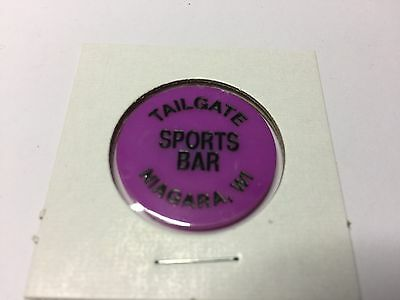 Tailgate Sports Bar NIAGARA, WISCONSIN GF Call Tavern Token Purple
