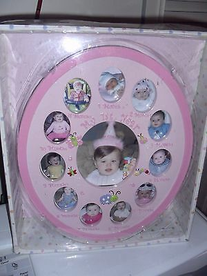 My 1st Year Picture Frame Pink Girl