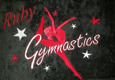 Personalised Girl Gymnastics Towel Available In 11 Colours