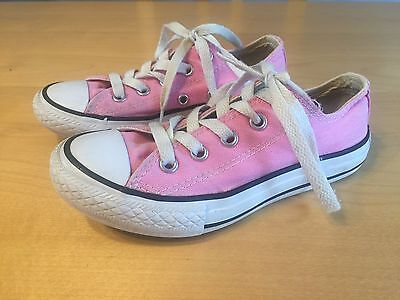 Girl's CONVERSE shoes Size 12 Pink GUC Youth Age  5 6 7 8