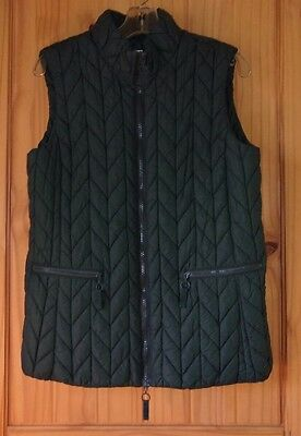 Coldwater CreekDark  Green Lightly Insulated Quilted Vest, Womens S (6-8)