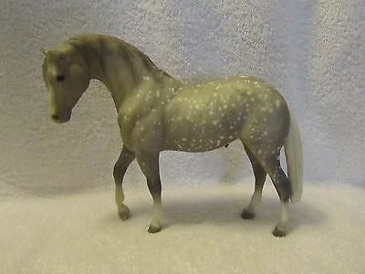 Breyer traditional model horse - dapple grey with white tail