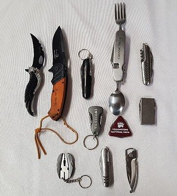 Assorted Knife Lot of 11 / EDC Folding / Pocket / Assisted / Camping / #2