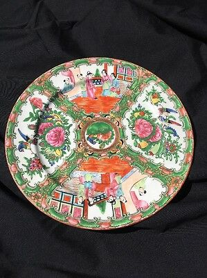 """19th Century Antique Chinese Famille Rose 10"""" Dinner Plate"""