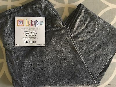 LuLaRoe Solid Heathered Grey Leggings OS NWT Butter Soft One Size