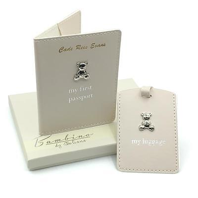 Personalised Baby Passport Cover and Luggage Tag Holder Gift Set CG1010-P