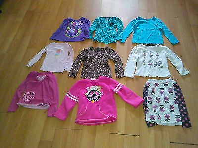 Toddler Girls' Size 4T Long Sleeve Shirts- Mixed Lot Of 9 Pieces