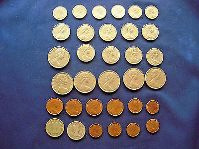 1960 To 1968 Australian 32 Coin Lot - 2 Silver - Most In Au Condition