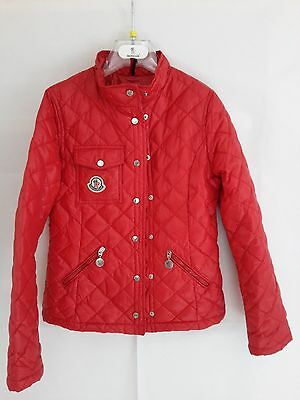 trapuntina 100gr. Moncler giubbotto tg.10 anni giacca jacket rossa