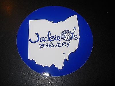 JACKIE O'S PUB Ohio Blue Circle Logo STICKER decal craft beer brewery brewing