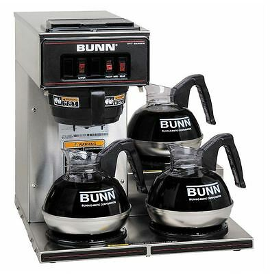 Bunn VP17-3 Commercial Pourover Brewer with 3 warmers - Free Shipping ***NEW***