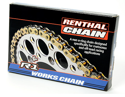 Renthal Motocross MX Enduro Bike Chain Gold 520 Pitch R1 118 Links