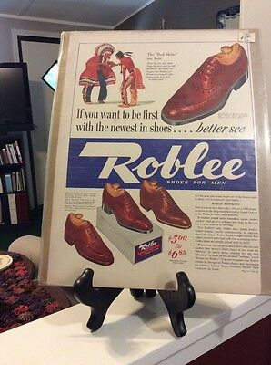 "1940 Roblee Shoes  Newspaper Ad  ""The Red Skins are Here"""