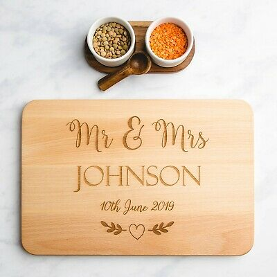 Mr & Mrs Personalised Wooden Chopping Board | Anniversary Gifts | Wedding Gifts