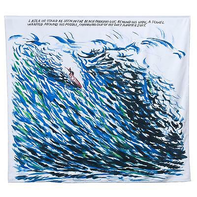"""RAYMOND PETTIBON """"Later he could be seen..."""" limited edition huge surfer TOWEL"""