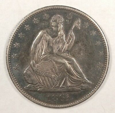 1861-O Seated Liberty Half Dollar 50C AU+