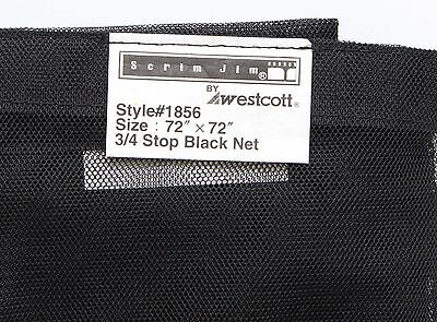 "Westcott Scrim Jim Net 3/4 Stop Black Net (Siingle) 72"" x 72"""