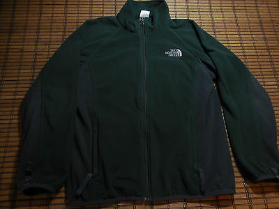 Boys THE NORTH FACE Green/Gray ZIP FLEECE Jacket SIZE LARGE