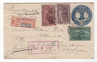Scott #231, 232, 236 Registered cover to Germany with 1 stamp added