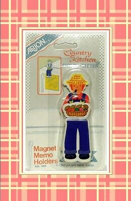 Vintage 1987 Arjon Country Kitchen Fridge Sitter magnet memo holder Man
