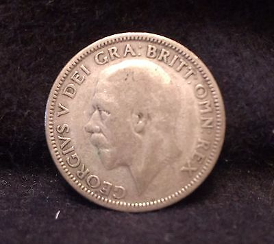 1927 Great Britain silver shilling, modified effigy, 2 year type, KM-829 (GB5)